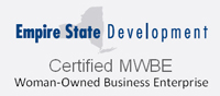 Logo for New York State Certified Woman-Owned Business Enterprise for AccuStaff